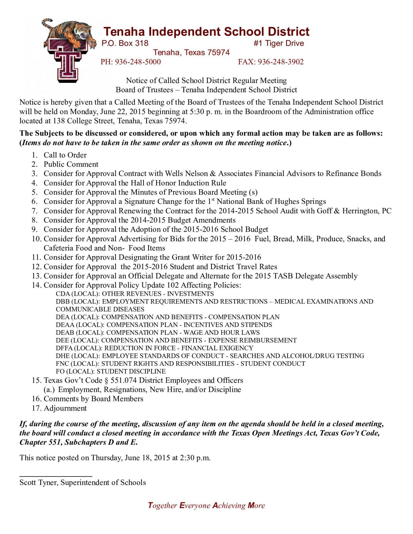 News headlines center broadcasting live local reaching out tenaha isd board of trustees to meet monday agenda 1betcityfo Choice Image