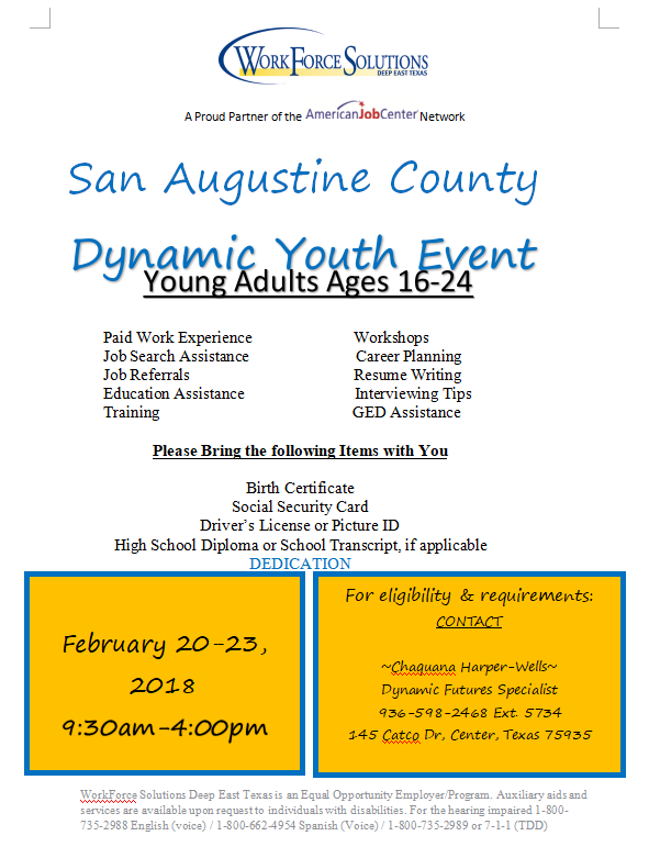 Dynamic Youth Event